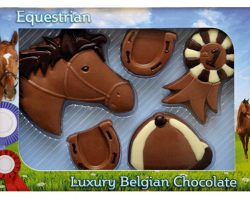 Novelty Luxury Belgian Chocolate Equestrian Set
