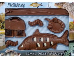 Novelty Luxury Belgian Chocolate Fishing Set